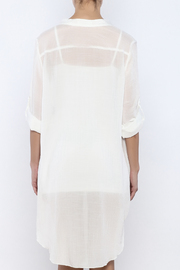 Bacio Off White Dress - Back cropped