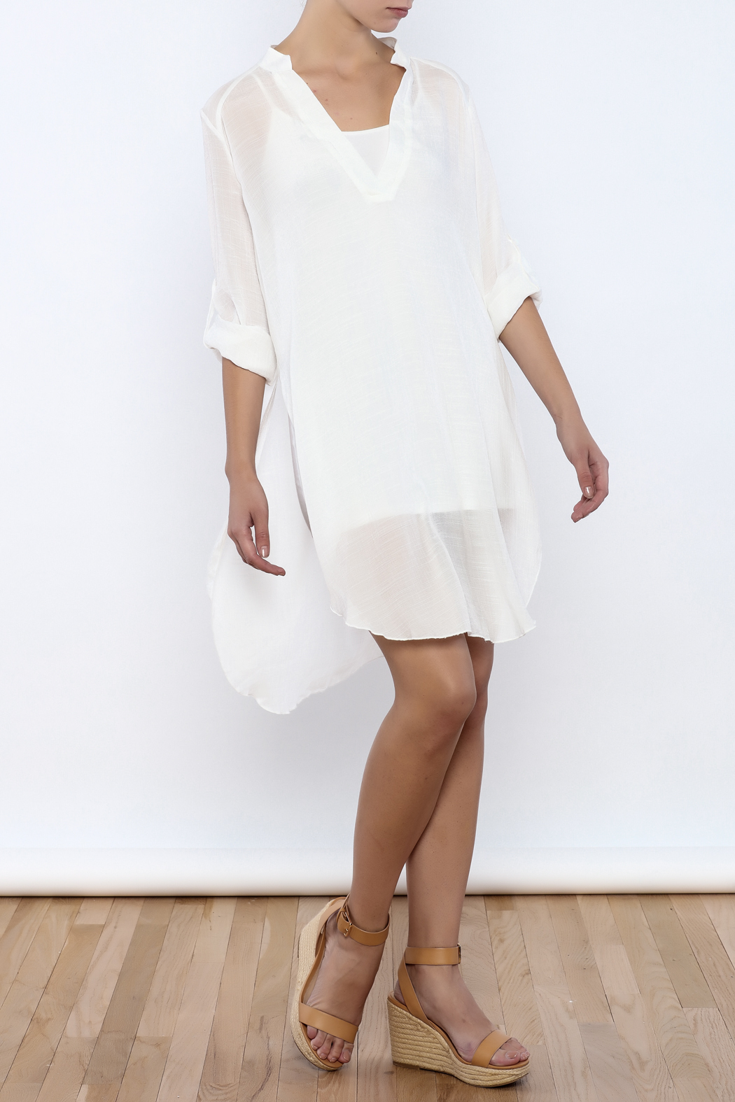 Bacio Off White Dress - Front Full Image