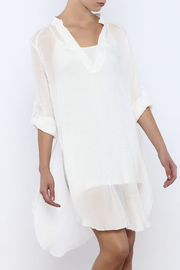 Bacio Off White Dress - Front cropped