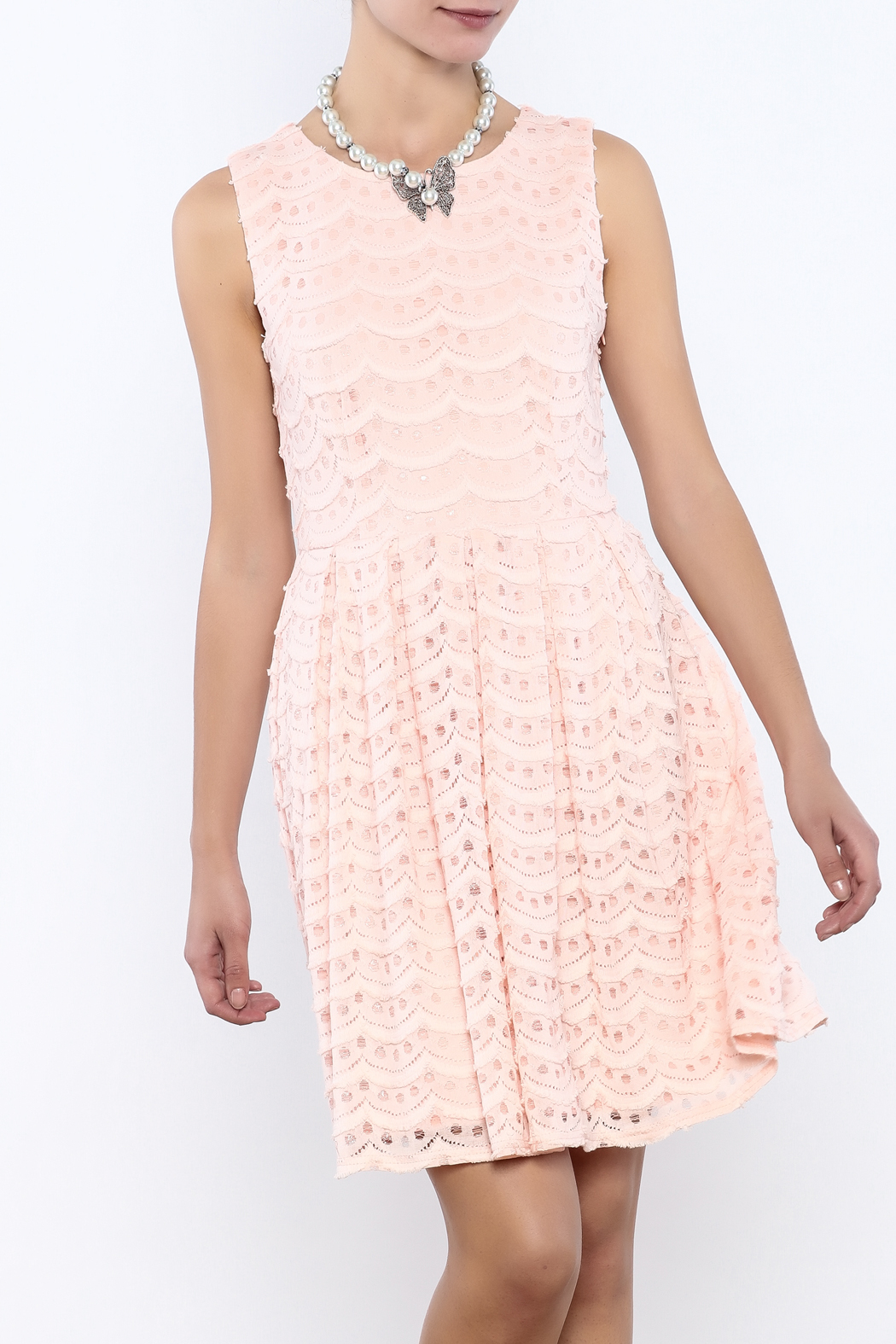 Bacio Pastel Dress - Front Cropped Image