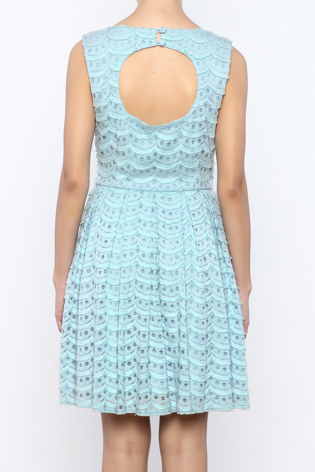 Bacio Pastel Dress - Back Cropped Image