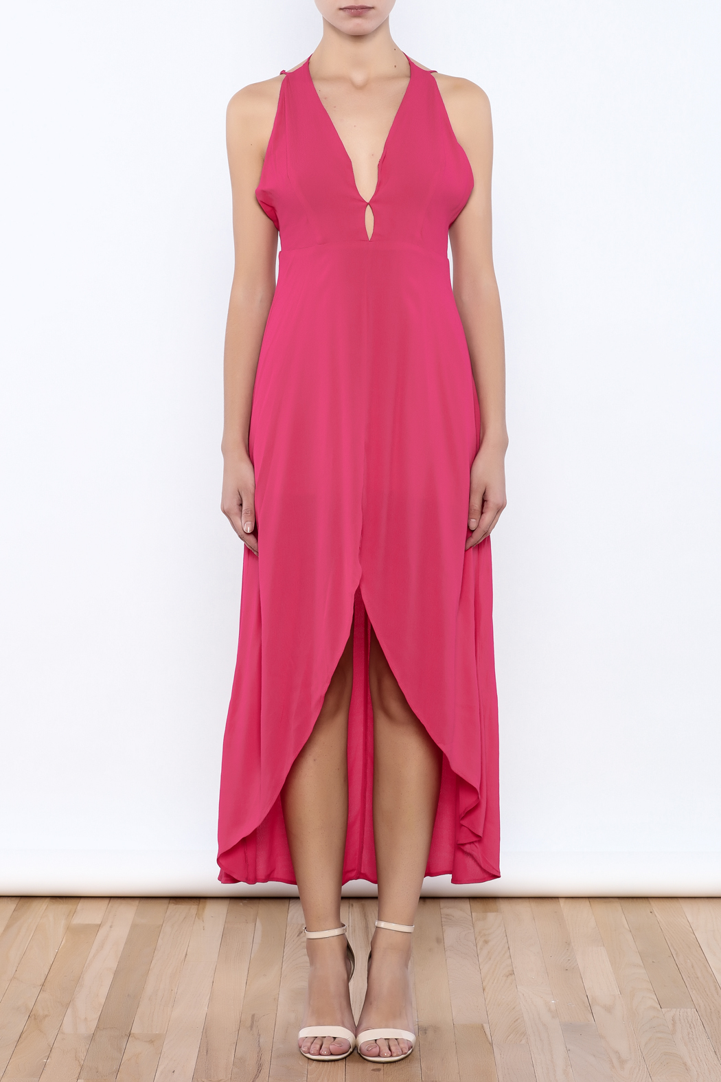 Bacio Pink Dress - Front Cropped Image