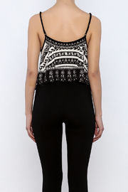 Shoptiques Product: Printed Crop Top - Back cropped