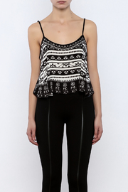 Shoptiques Product: Printed Crop Top - Side cropped