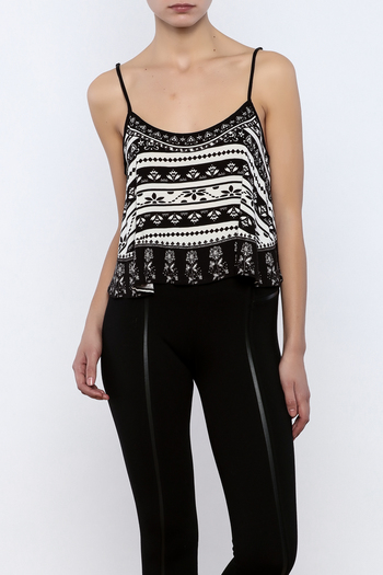 Shoptiques Product: Printed Crop Top - main