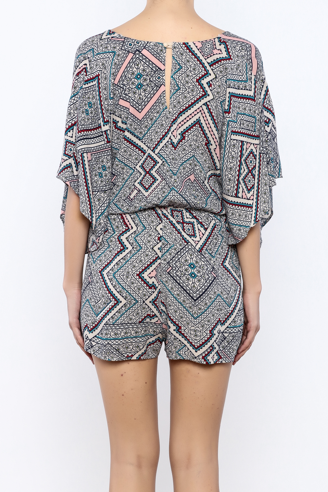 Bacio Printed Romper - Back Cropped Image