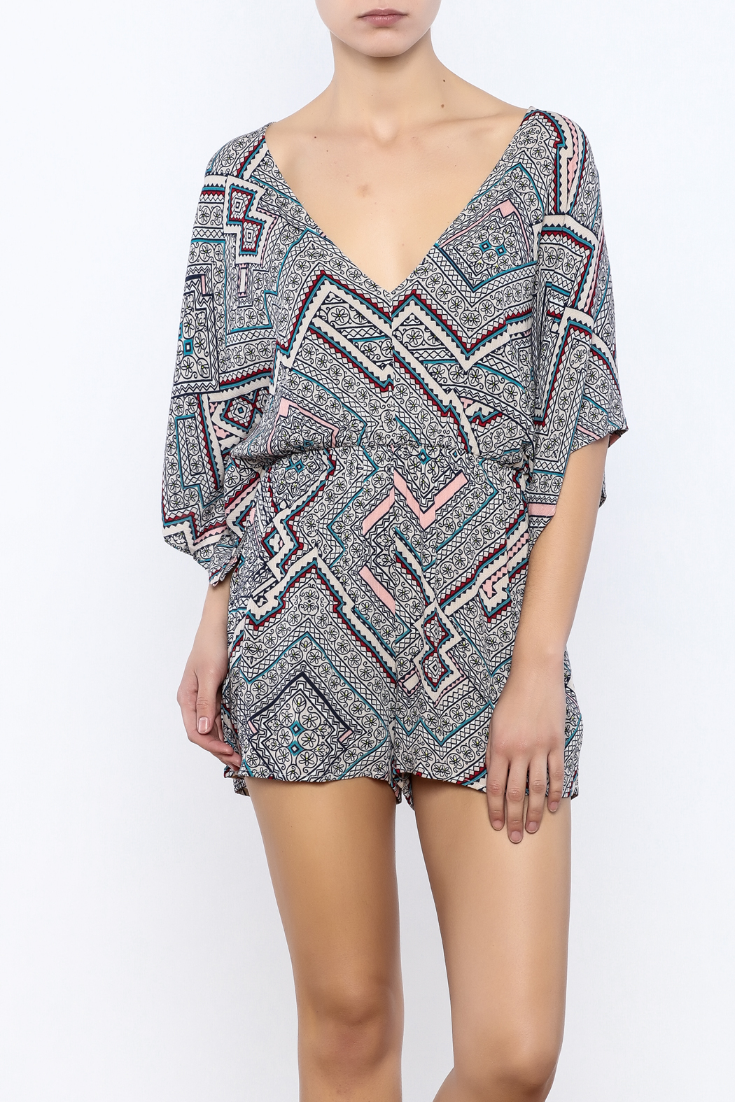 Bacio Printed Romper - Front Cropped Image