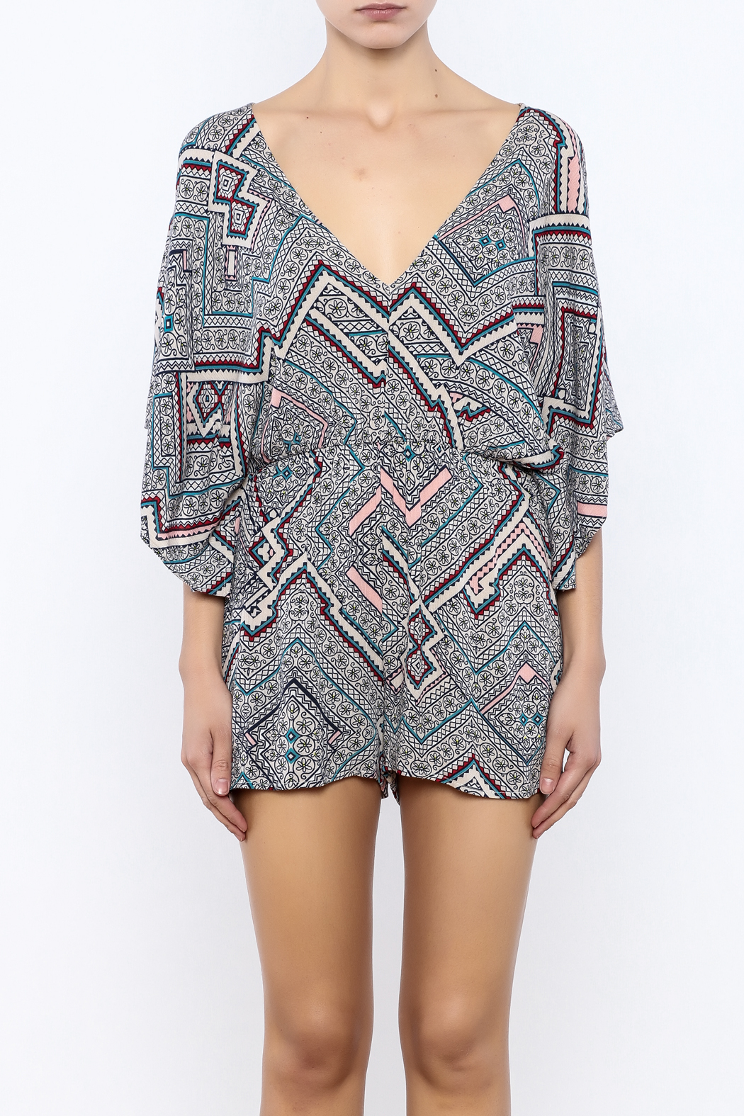 Bacio Printed Romper - Side Cropped Image