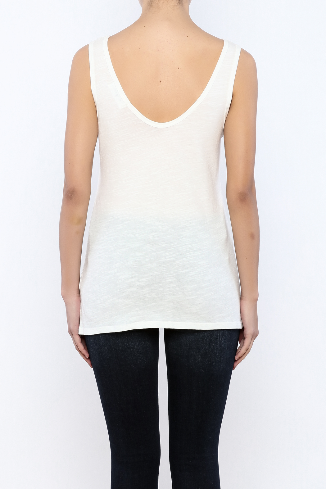 Bacio Scoop Neck Tank - Back Cropped Image
