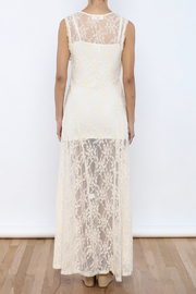 Shoptiques Product: Sheer Lace Dress - Back cropped