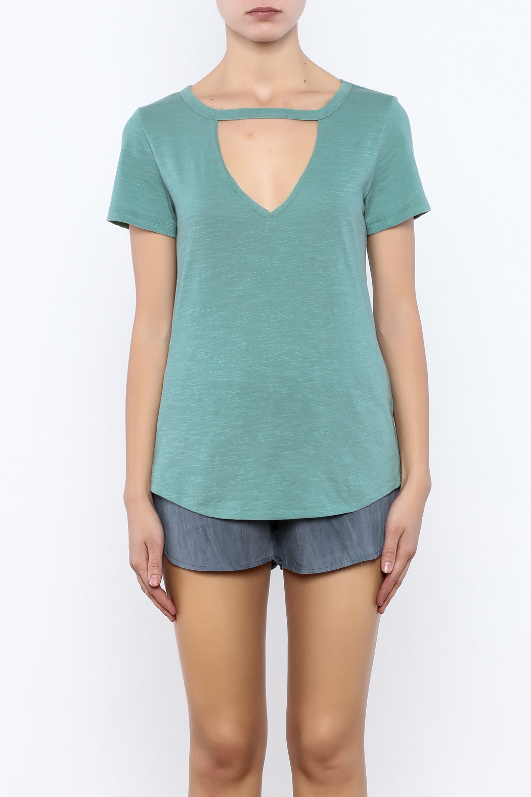 Bacio Short Sleeve Tee - Side Cropped Image