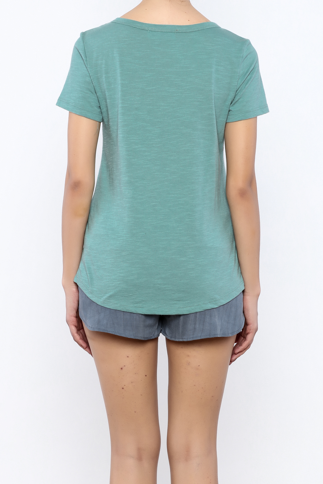 Bacio Short Sleeve Tee - Back Cropped Image