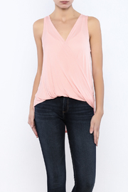 Bacio Sleeveless Wrap Front Top - Product Mini Image