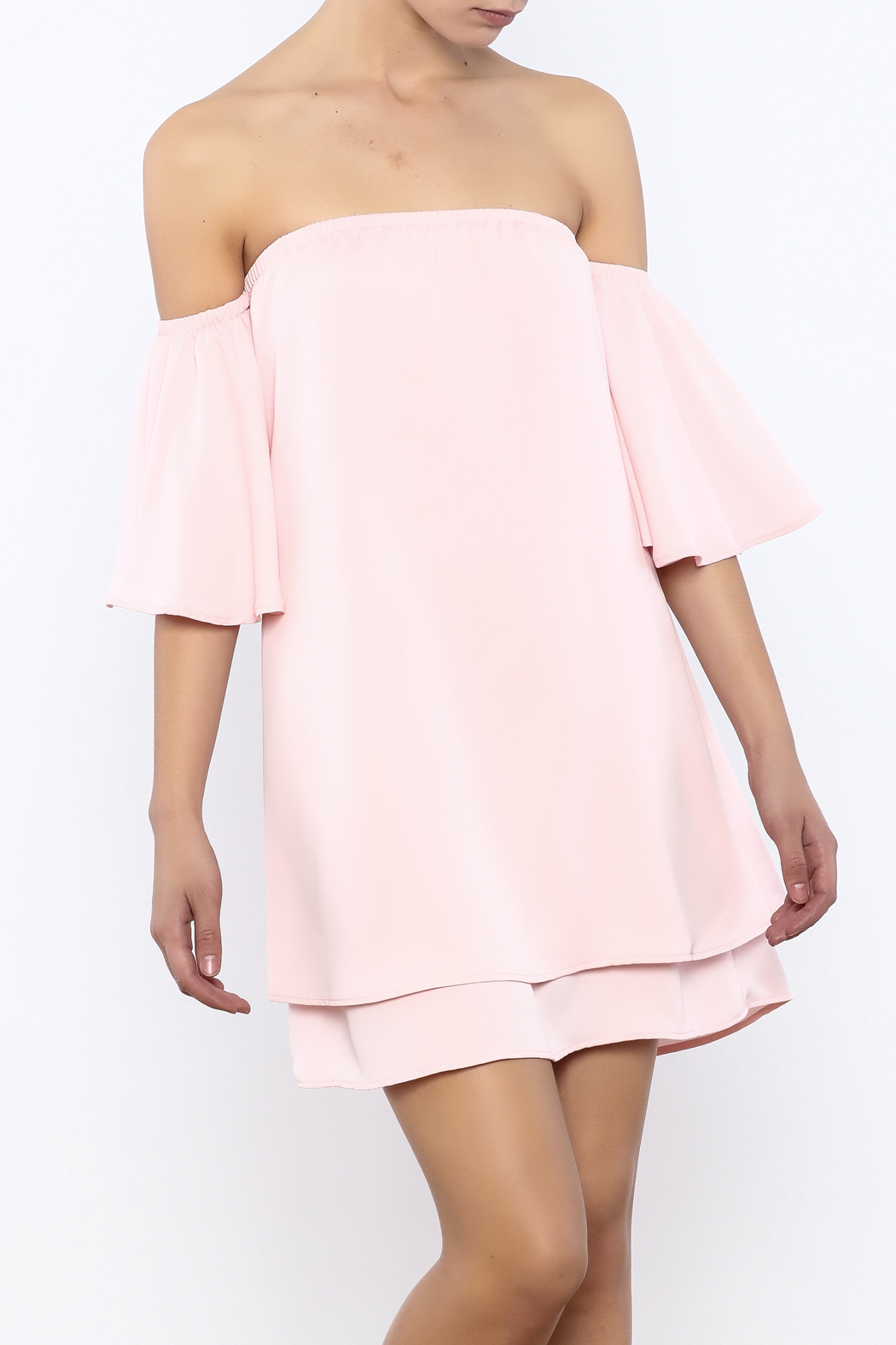 Bacio Soft Pink Top - Front Cropped Image