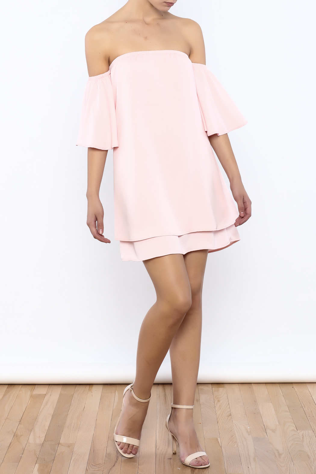 Bacio Soft Pink Top - Front Full Image