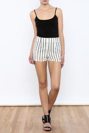 Bacio Stripe Pattern Shorts - Front full body