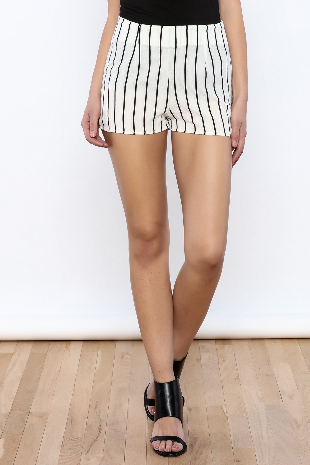 Bacio Stripe Pattern Shorts - Main Image