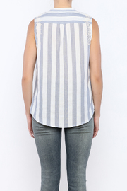 Shoptiques Product: Stripe Sleeveless Top - Back cropped