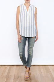 Shoptiques Product: Stripe Sleeveless Top - Front full body