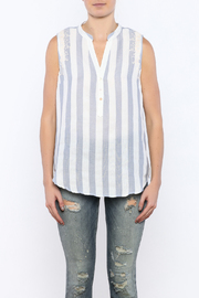 Shoptiques Product: Stripe Sleeveless Top - Side cropped