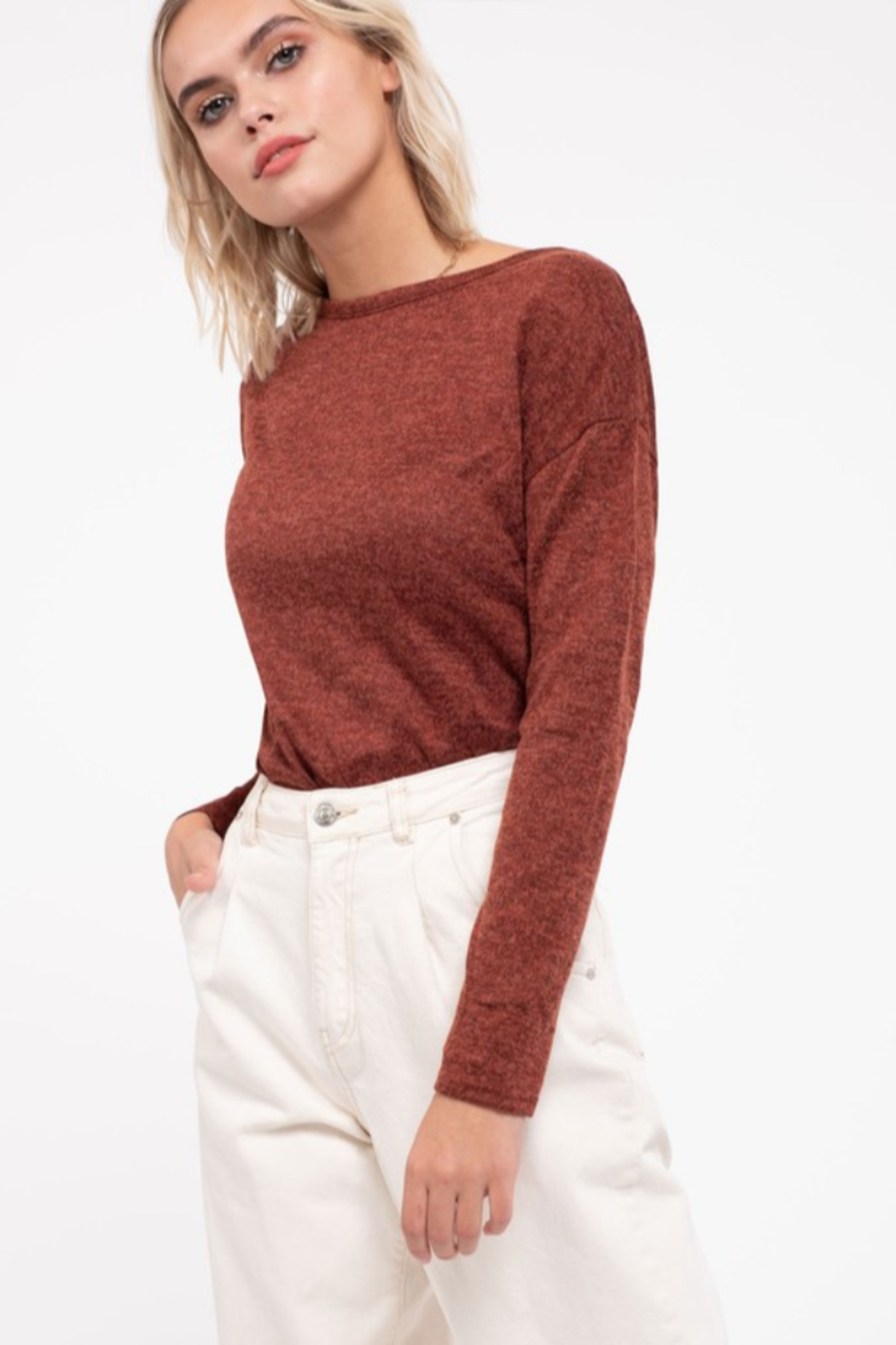 Mine and E&M Back-Bow Knit Top - Main Image