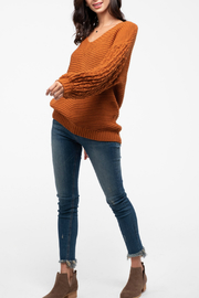 Blu Pepper Back-Button Knit Sweater - Front cropped