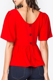Sugarlips Back-Button Peplum Top - Product Mini Image