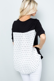 Lyn -Maree's Back Contrast Top - Product Mini Image