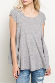 Hem & Thread Back Keyhole Tee - Product Mini Image