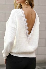 Spotlite BACK LACE SWEATER - Front cropped