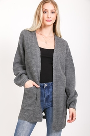 LoveRiche Back Lace-Up Cardigan - Product Mini Image