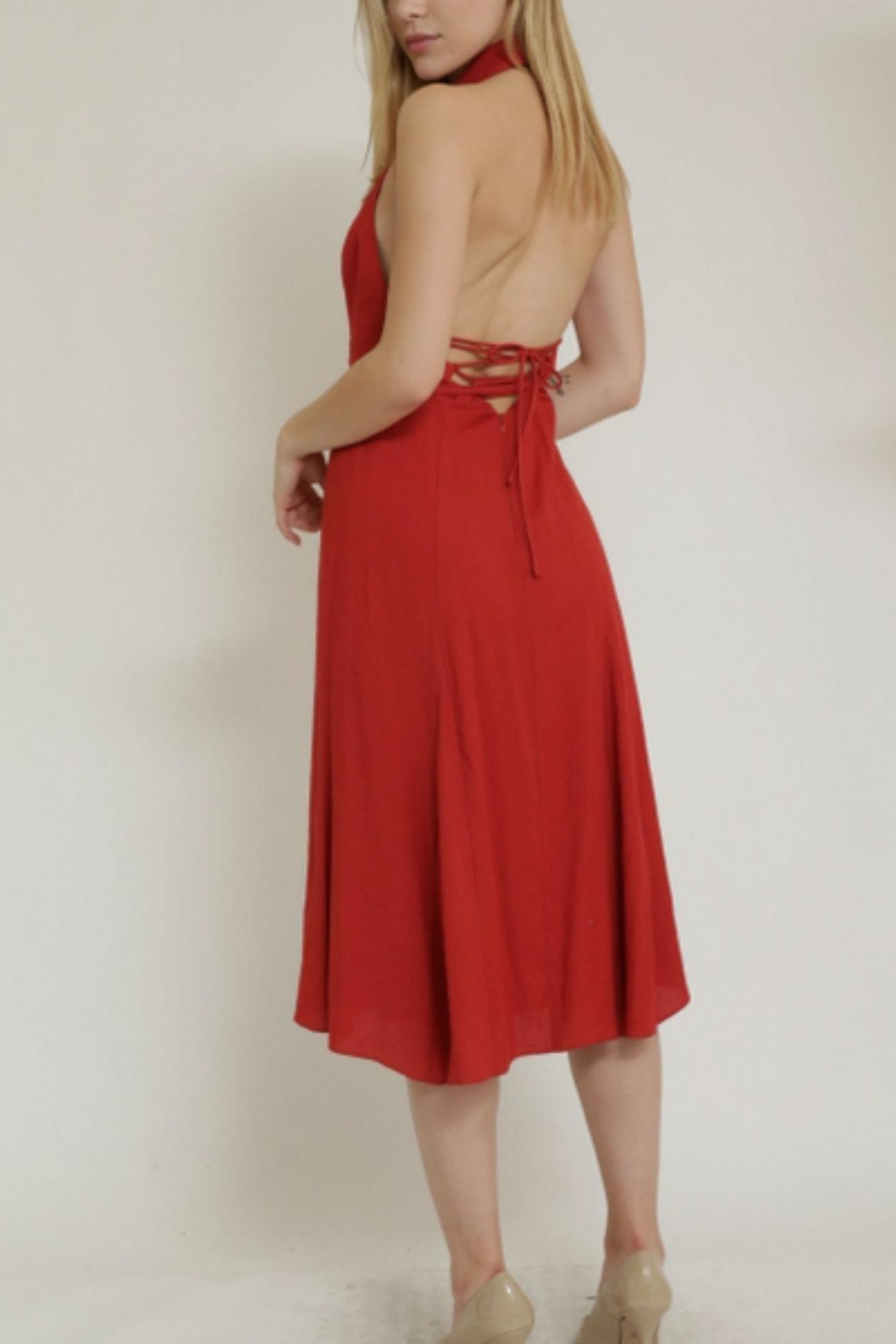 essue Back Open Dress - Side Cropped Image