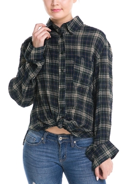 Shoptiques Product: Back-Tie Plaid Shirt