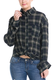 Mustard Seed Back-Tie Plaid Shirt - Product Mini Image