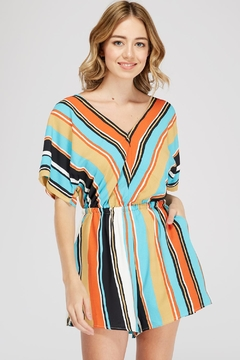 Shoptiques Product: Back-Tie Striped Romper