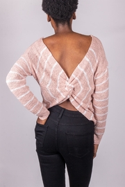 Love Tree Back-Tie Sweater Pink - Front cropped