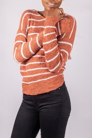 Love Tree Back-Tie Sweater Rust - Side cropped