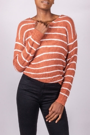 Love Tree Back-Tie Sweater Rust - Front cropped