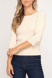 She + Sky Back-Tie Sweater Top - Product Mini Image