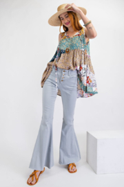 60s Pants, Jeans, Hippie, Flares, Jumpsuits Back to the 90s Bell Bottoms $58.00 AT vintagedancer.com