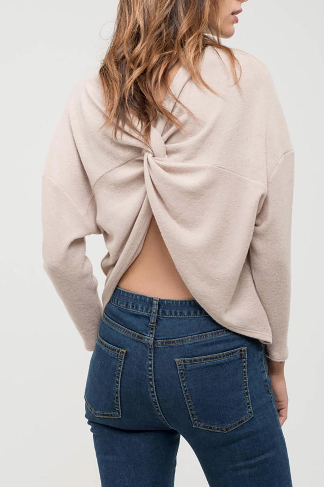 Blu Pepper Back-Twist Long Sleeve - Front Cropped Image
