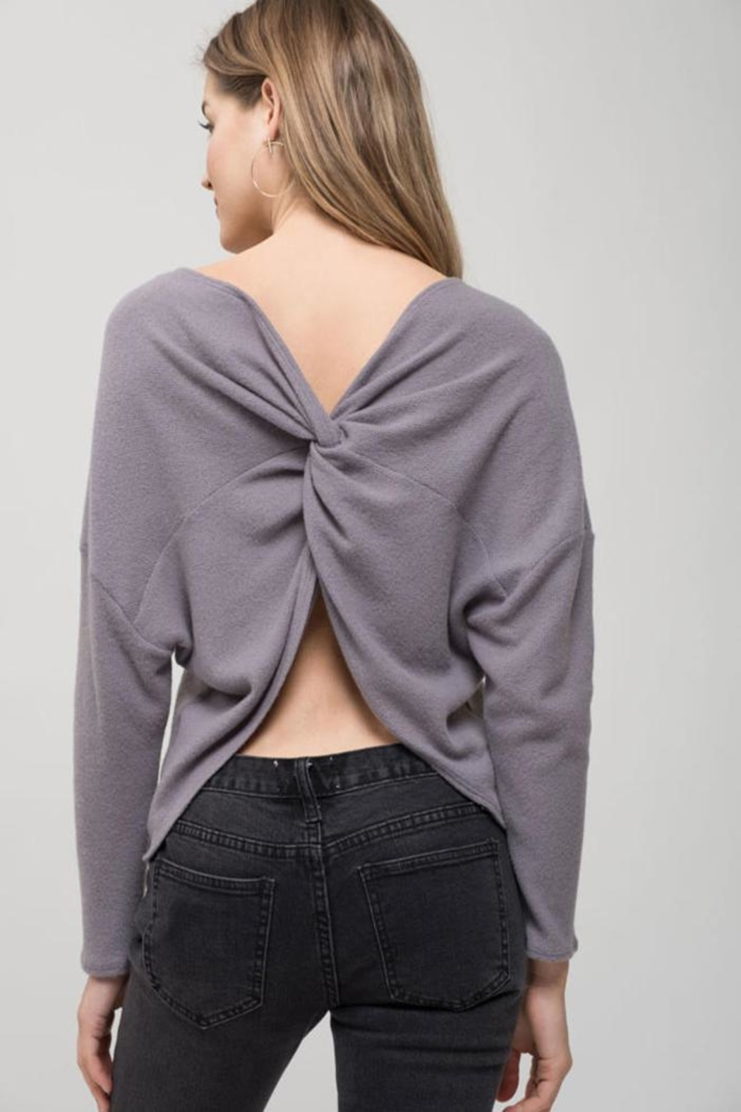Blu Pepper Back-Twist Long Sleeve - Side Cropped Image