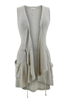 Backdrop Fashion Champagne Drawstring Vest - Product List Image
