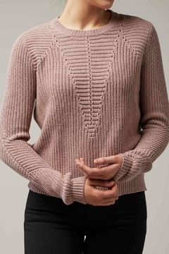 Shoptiques Product: Blush Zipper Sweater