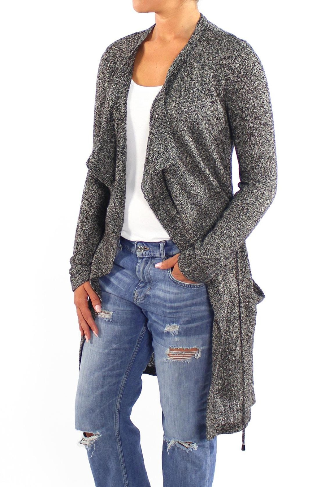 Backdrop Fashion Grey Long Cardigan - Main Image
