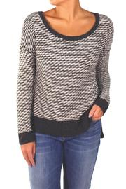 Backdrop Fashion Grey Check Sweater - Product Mini Image