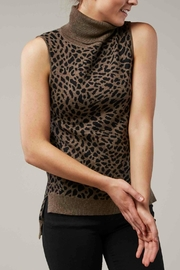 Backdrop Fashion Leopard Sleeveless Turtleneck - Product Mini Image