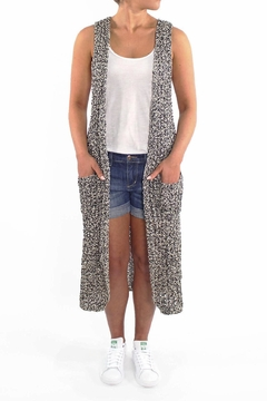 Backdrop Fashion Ribbed Duster Vest - Product List Image