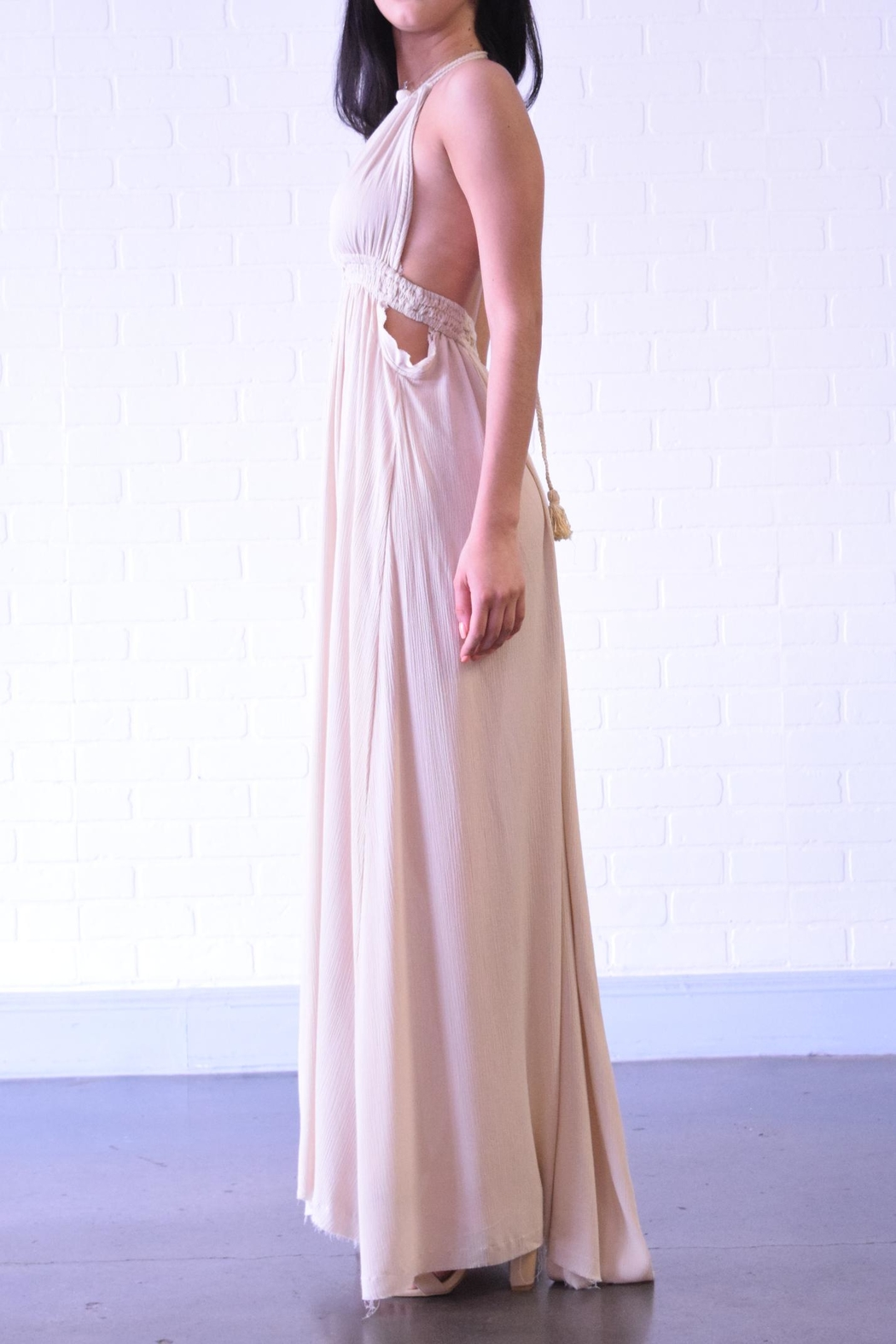 Coalition Backless Maxi Dress - Front Full Image