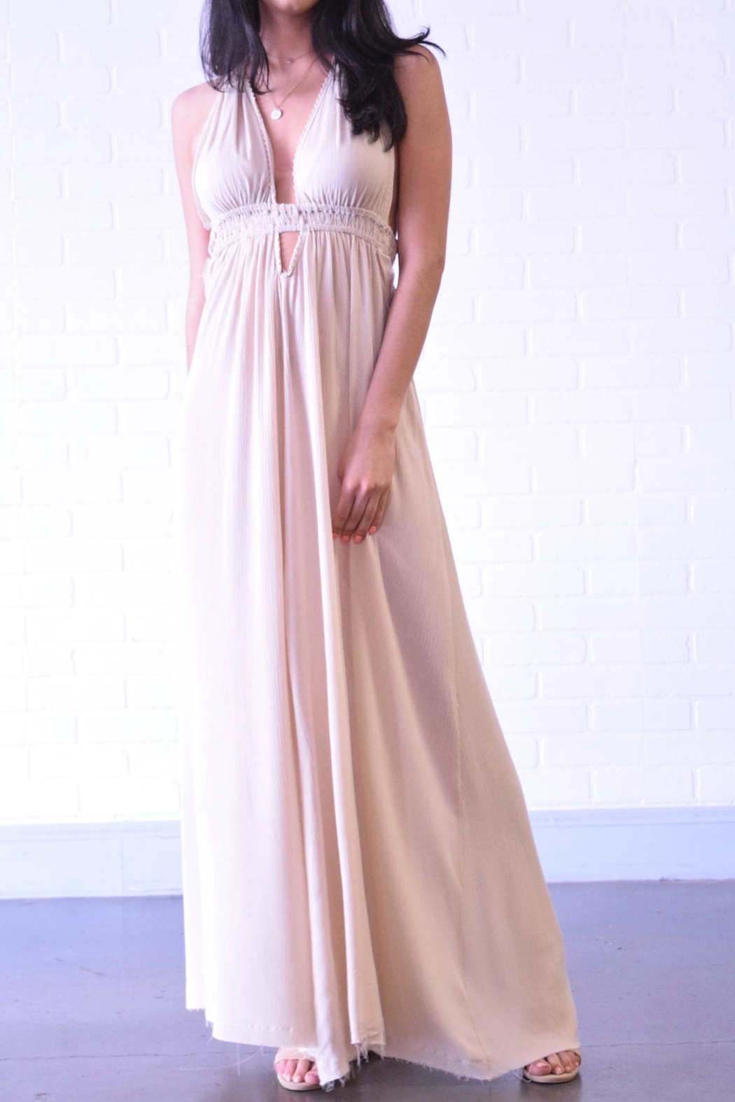 Coalition Backless Maxi Dress - Main Image